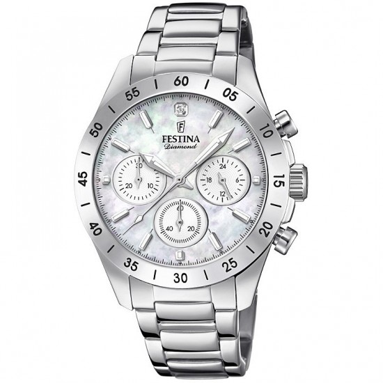 Festina Watch Woman Chronograph Boyfriend Collection White