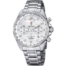 Festina Watch Man Chronograph Timeless Collection Silver White