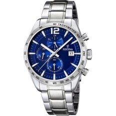 Festina Watch Man Chronograph Timeless Collection Silver Blue