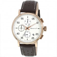 Gant Watch Man Chronograph Wantage Collection Brown White