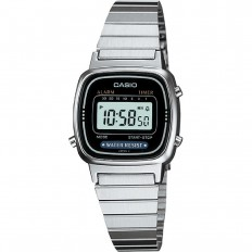 Casio Women's Digital Watch Vintage Silver Black