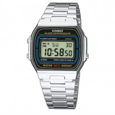 Casio Watch Unisex Digital Vintage Silver/Black