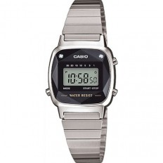 Casio Women's Digital Watch Vintage Mini Silver Black