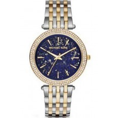 Michael Kors Women's Watch Only Time Darci Collection Silver/Gold Blue