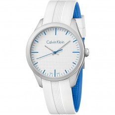Calvin Klein Unisex Watch Only Time Color Collection White Blue
