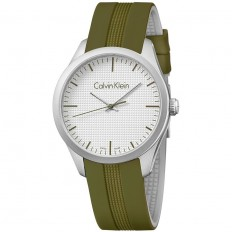 Calvin Klein Unisex Watch Only Time Color Collection Green Silver