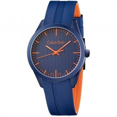Calvin Klein Unisex Watch Only Time Color Collection Blue Orange
