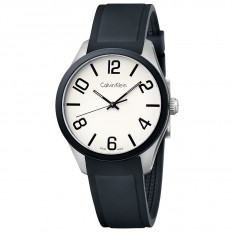 Calvin Klein Unisex Watch Only Time Color Collection Black
