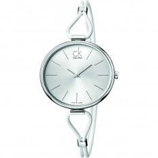 Calvin Klein Women's Watch Only Time Selection Collection White Silver