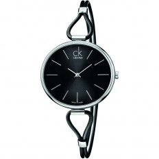 Calvin Klein Women's Watch Only Time Selection Collection Black Silver