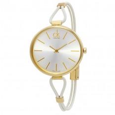Calvin Klein Orologio Donna Solo Tempo Collezione Selection White Gold