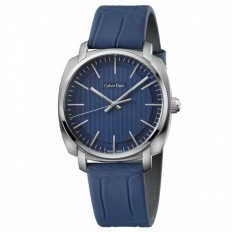 Calvin Klein Men's Watch Only Time Highline Collection Blue Crocodile
