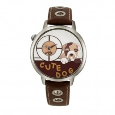 Braccialini Watch Unisex Only Time Tua Collection Cute Dog