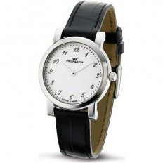 Philip Watch Watch Only Time Woman Slim Collection Black