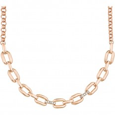 Liu Jo Women's Necklace Chain Rosegold Crystals