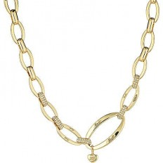 Liu Jo Women's Necklace Brass Dolceamara Collection Chain Gold