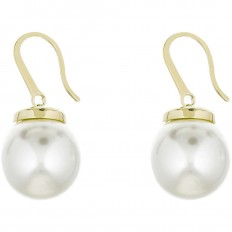 Liu Jo Woman Earrings Brass Gold Pearl