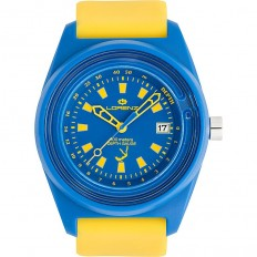 Lorenz Watch Unisex's Only Time Classico Professional Collection Depth Gauge Yellow/Blue
