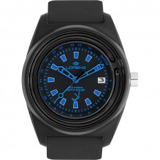 Lorenz Watch Unisex's Only Time Classico Professional Collection Depth Gauge Black/Blue