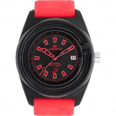 Lorenz Watch Unisex's Only Time Classico Professional Collection Depth Gauge Black/Red