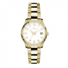 Lorenz Women's Watch Only Time Ginevra Collection Gold/White
